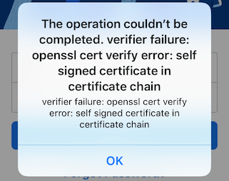 opessl cert verify error self